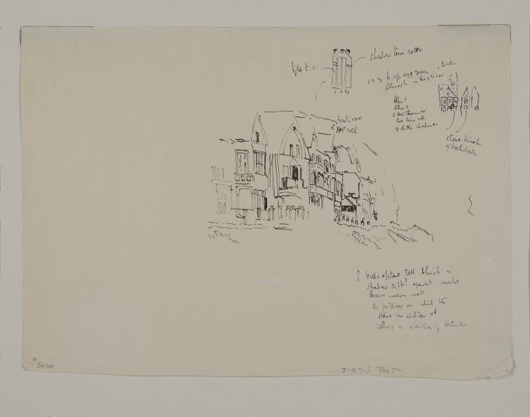 Study of the Villas Under the Cliff, Dieppe card