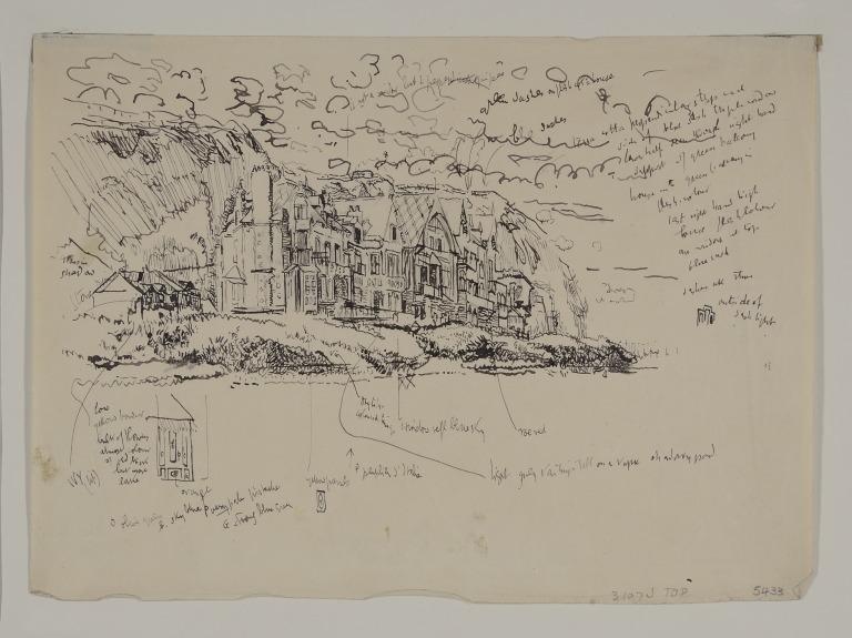 Villas Under the Cliff, Dieppe, Le Bas Fort Blanc card