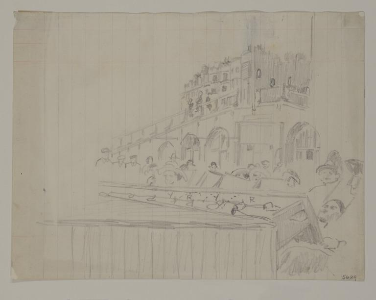 Brighton Front with Concert Party - Study for Brighton Pierrots card
