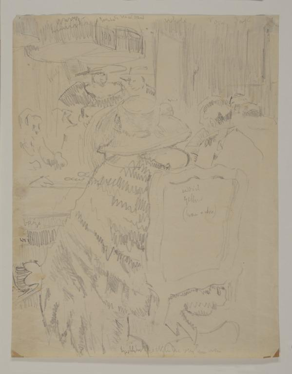 Study for Baccarat, The Fur Cape card