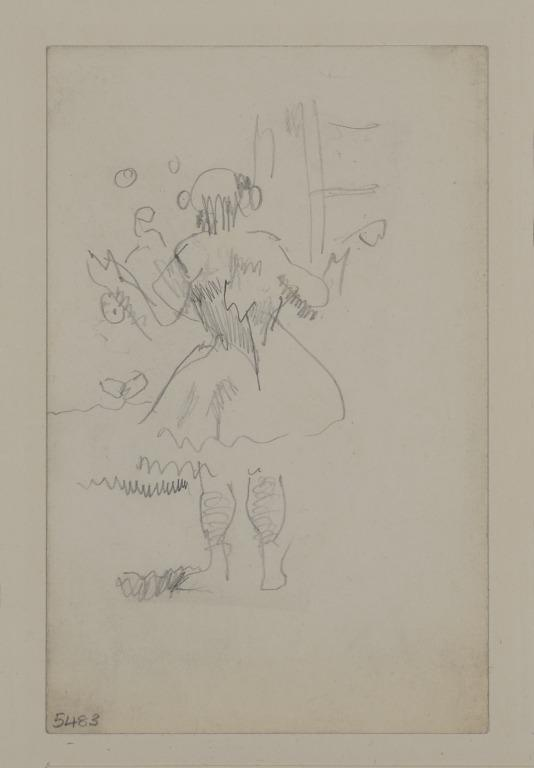 Girl Juggling, Seen from the Back card