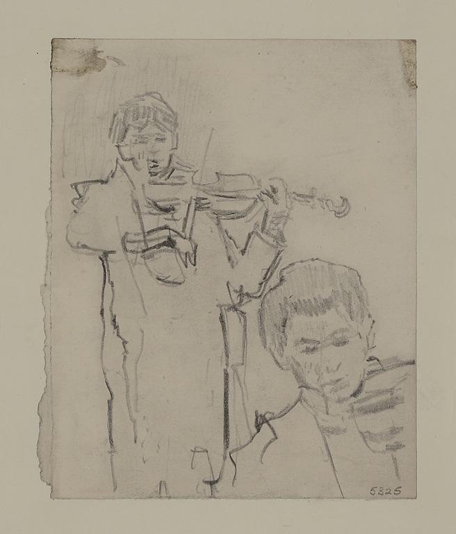A Boy Playing a Violin card