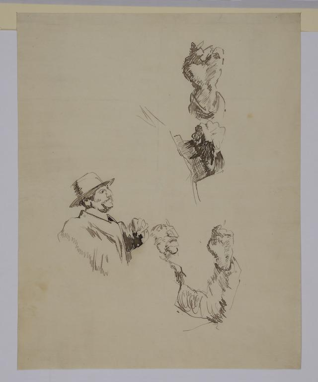 Vernet's, Man Smoking card