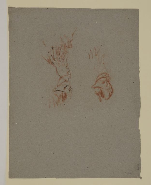 Two Studies of a Hand and a Forearm card
