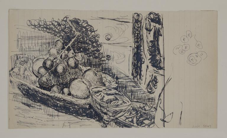 Study of Fruit on a Table card