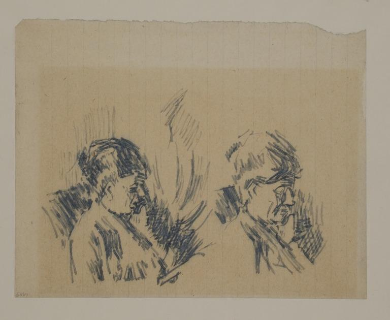 Studies of a Woman Reading card