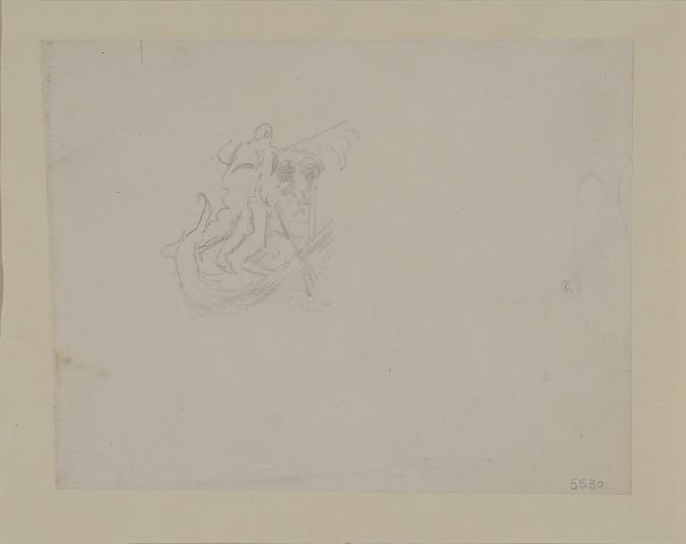 Study of a Gondolier card