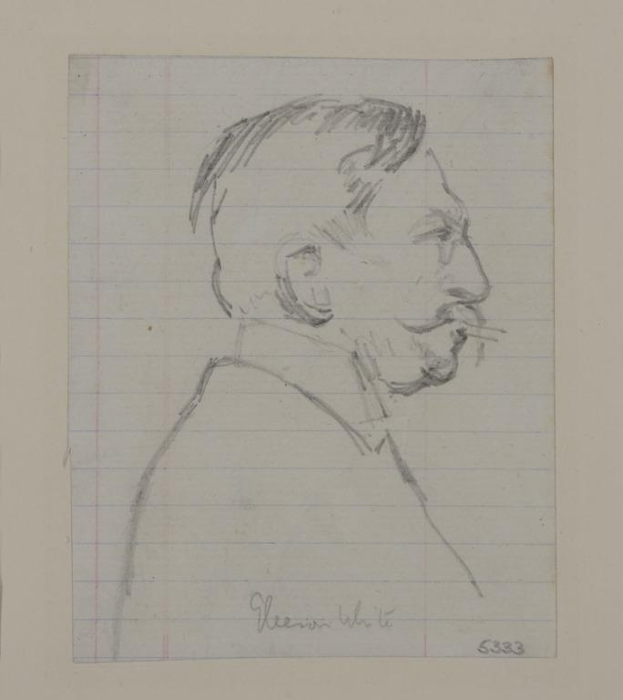 Head of a Man Smoking a Cigarette (Gleeson White) card