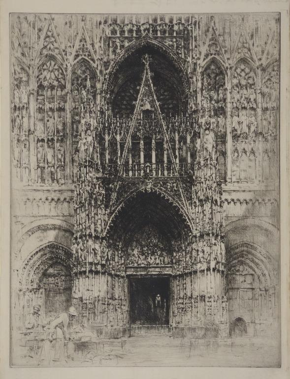 A French Cathedral (Rouen) card