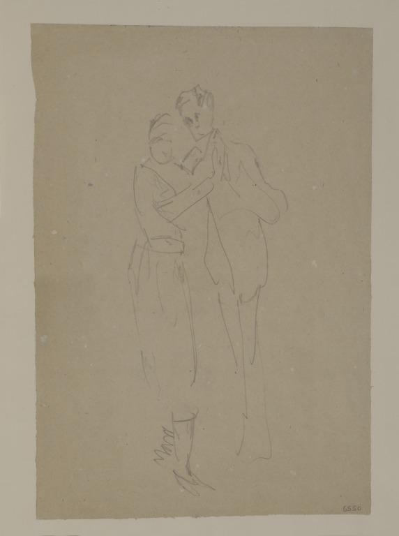 Study of a Dancing Couple card
