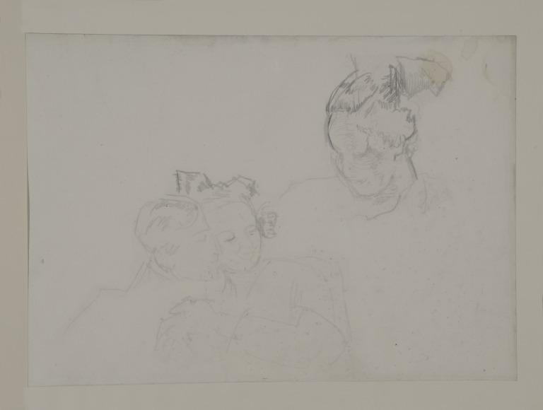 Study of a Dancing Couple and Head of a Woman card