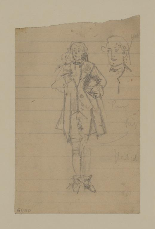 Man in an 18th Century Costume card