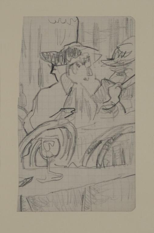 Study of Two Figures in a Restaurant card