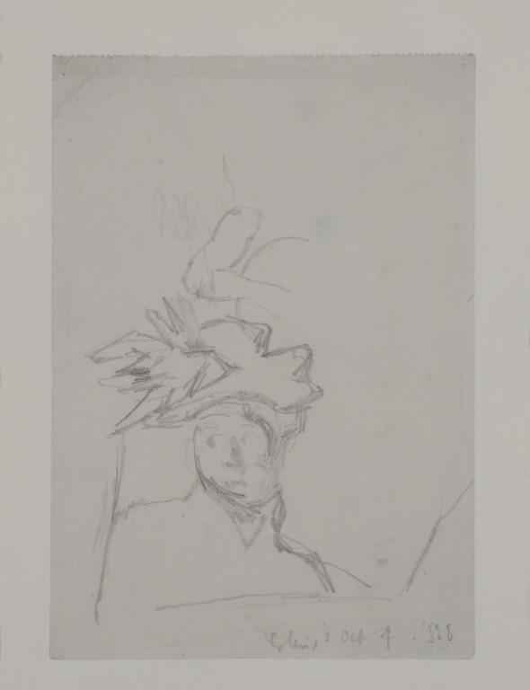 Study of a Woman in a Hat card