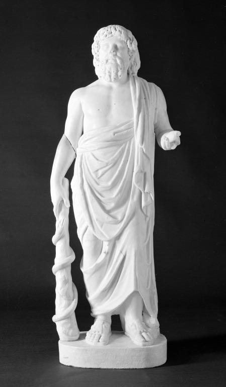Statuette of Asclepius card