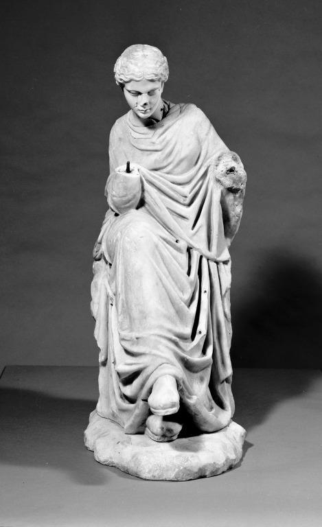 Statuette of Urania card