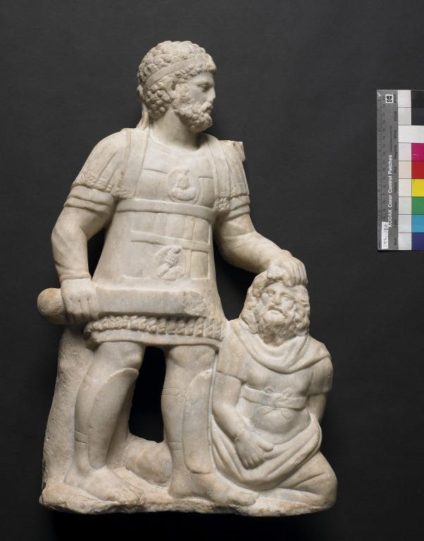 Sculpture of an Emperor and Captive card