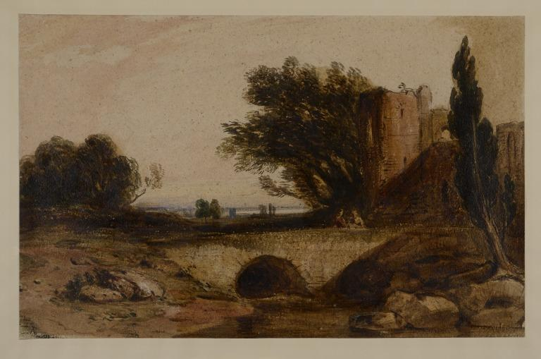 An Old Castle and Bridge card