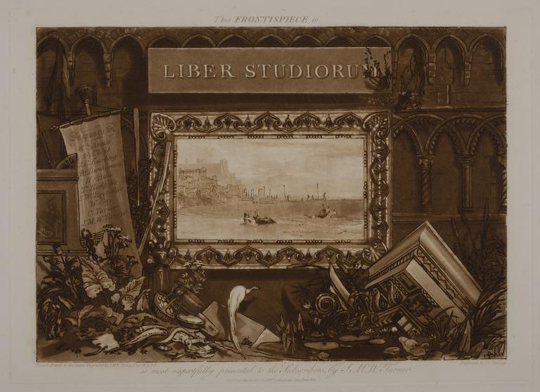 Frontispiece to the Liber Studiorum card