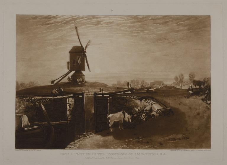Windmill and Lock card