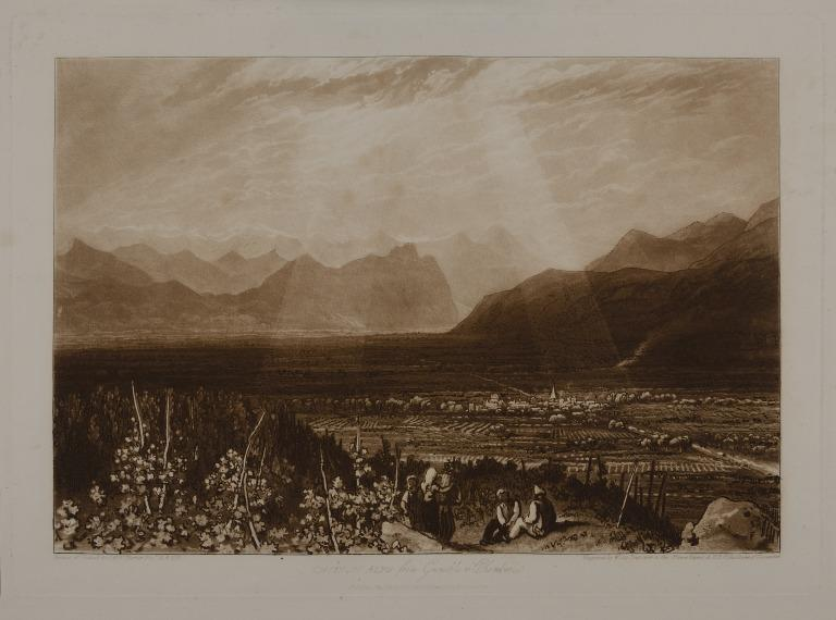 Chain of Alps from Grenoble to Chamberi card
