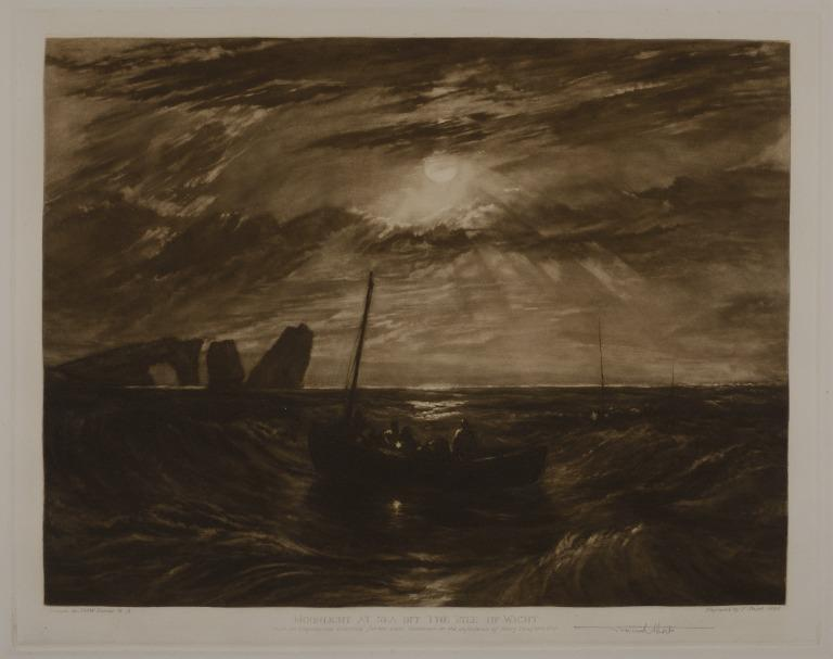 Moonlight at Sea off the Isle of Wight card