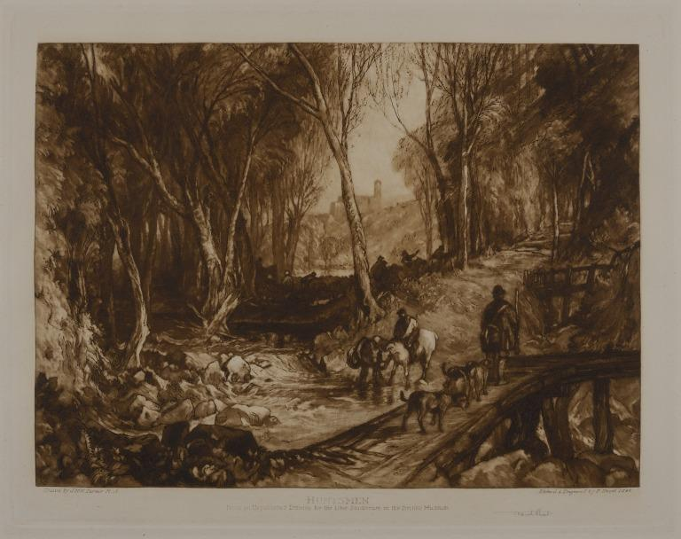 Huntsmen in a Wood card