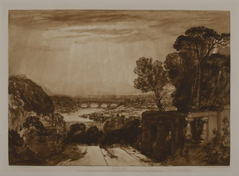 View of a River from a Terrace: Mâcon?, France card