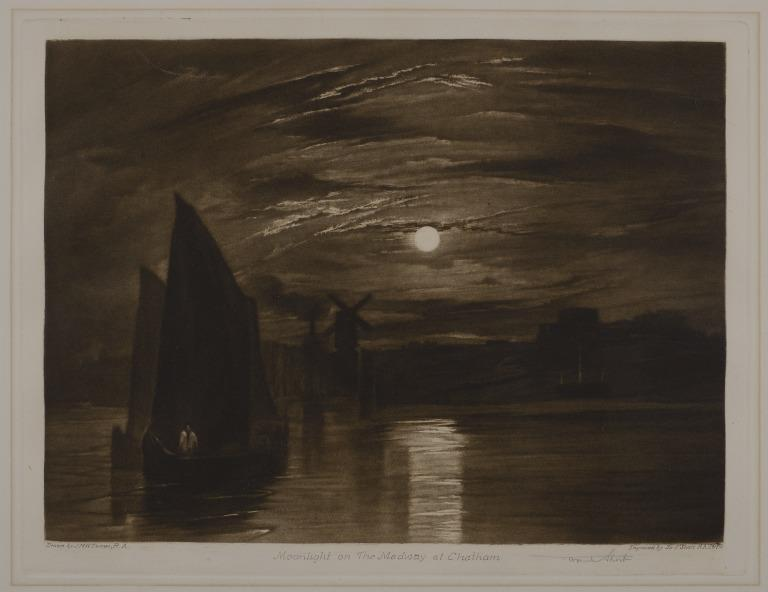 Moonlight on the Medway at Chatham card