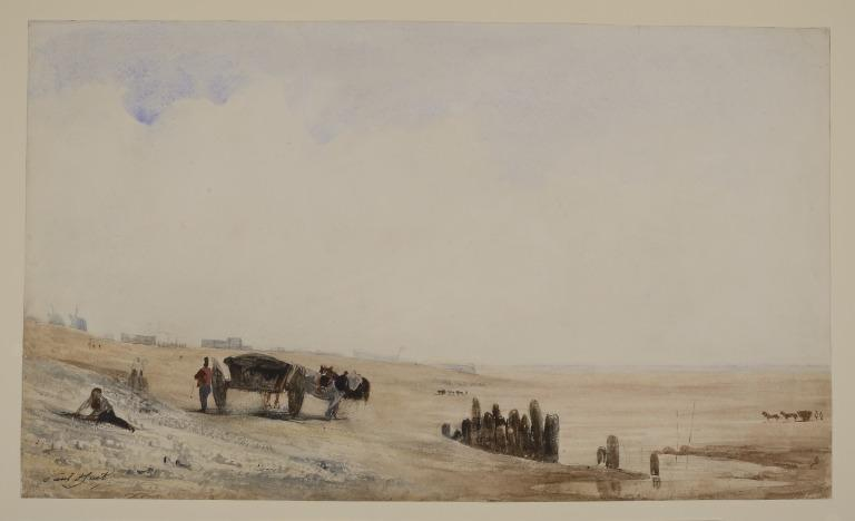 The Beach at Le Havre card