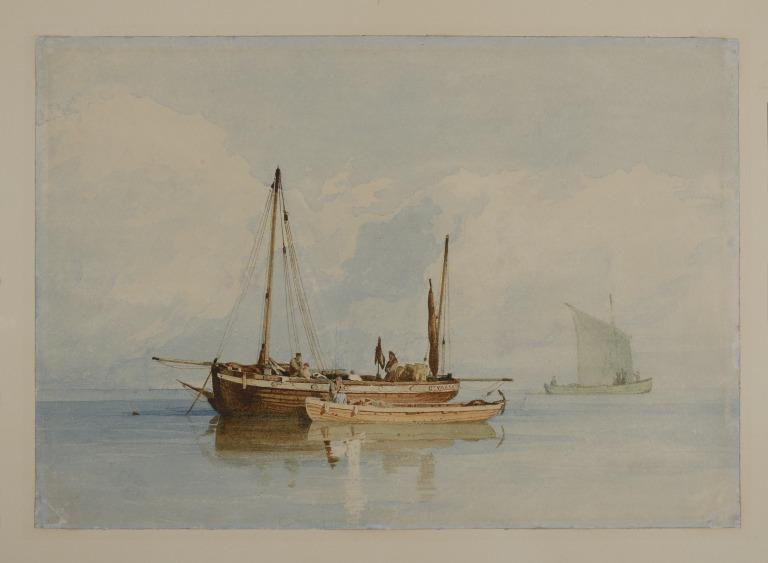 Yarmouth Lugger and Other Vessels in a Calm card