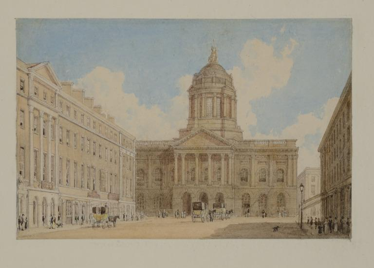 The Town Hall Liverpool from the South card