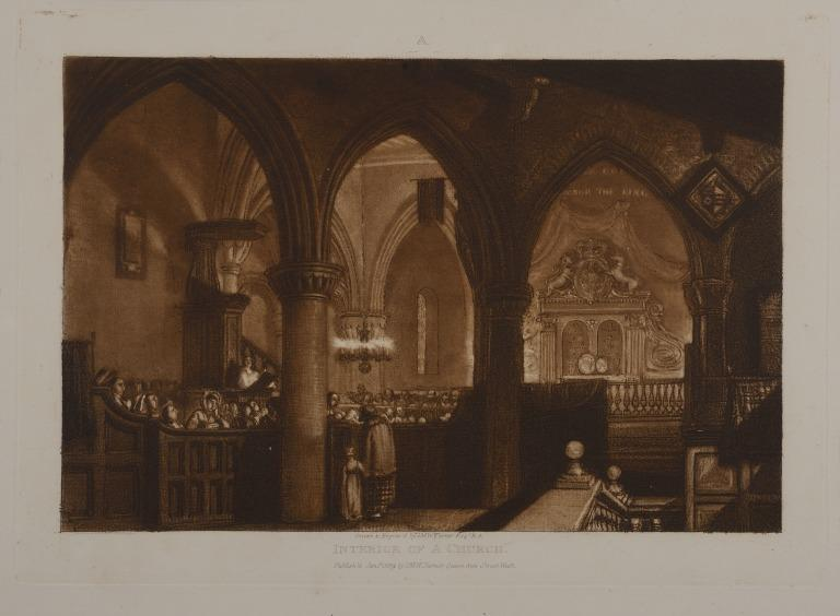 Interior of a Church card