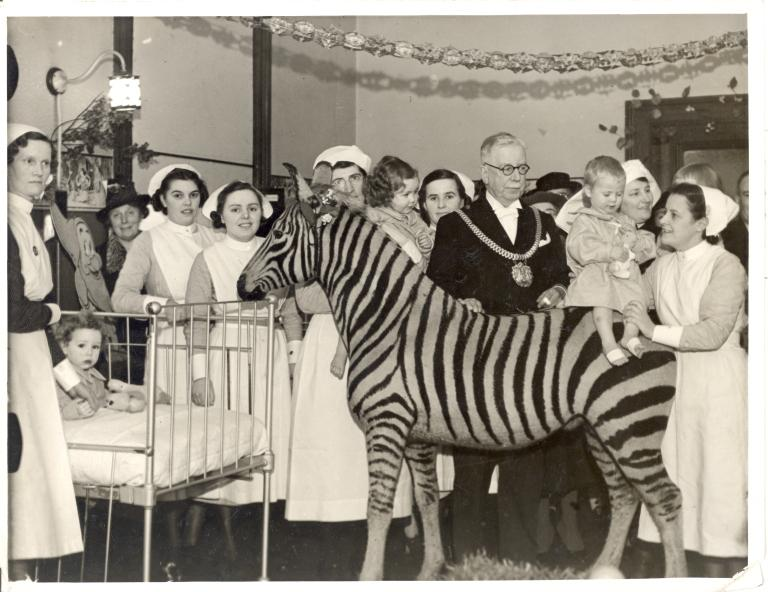 Liverpool Stanley Hospital at Christmas card