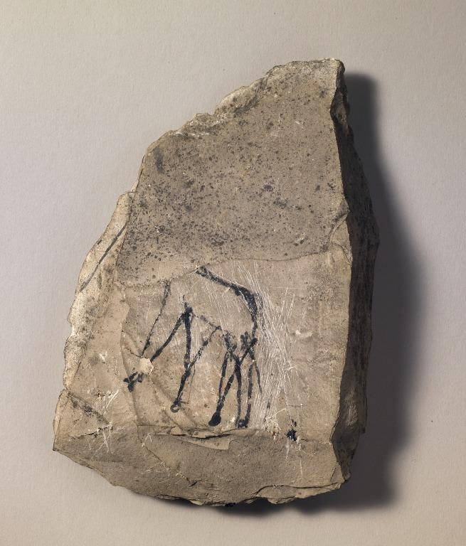Figured Ostracon with Giraffes card
