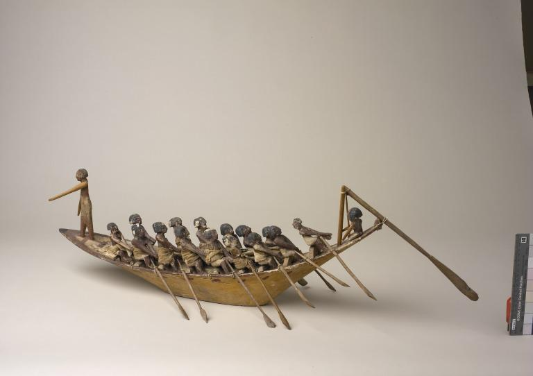 Model of a Boat with Crew card