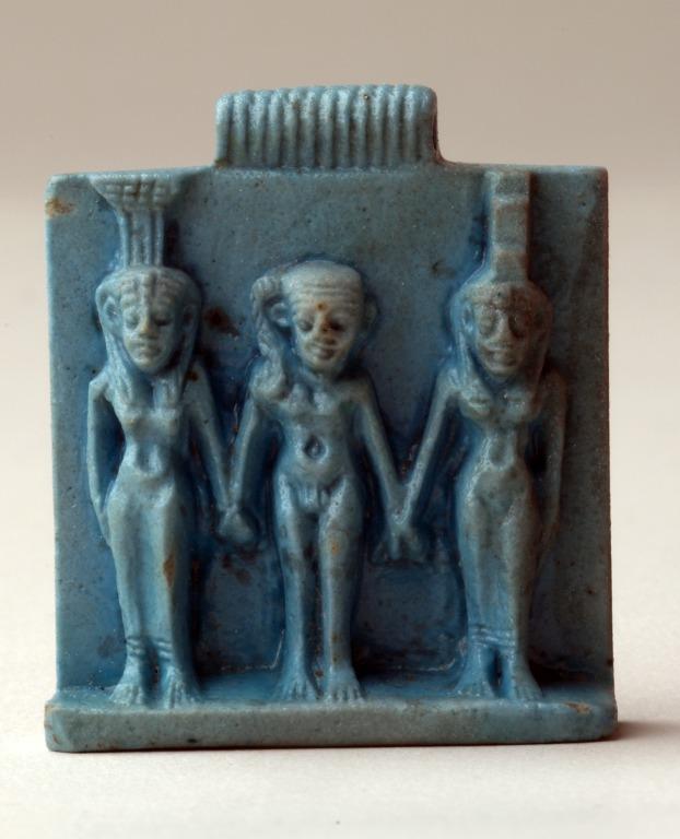 Plaque Amulet of Osirian Triad card
