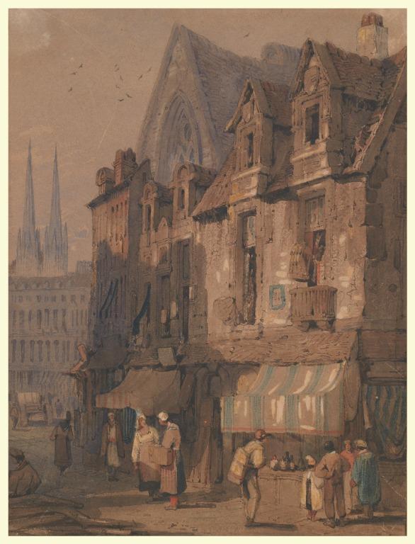 Street Scene, Bayeux, Normandy card