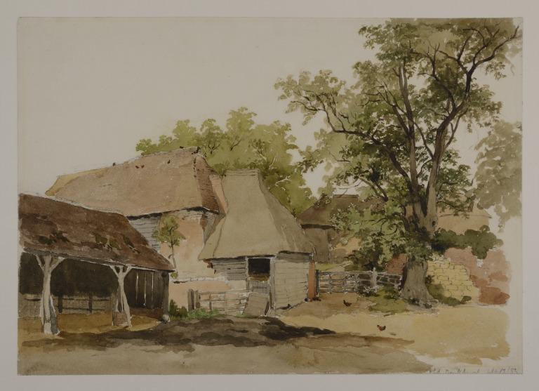 Farmyard at Old Buckhurst, Sussex card