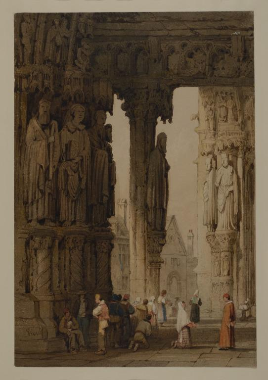 North Porch of Chartres Cathedral card