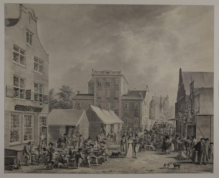 Fair Scene in a Dutch Town card