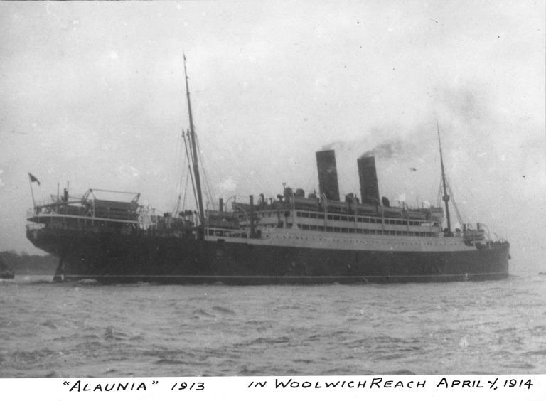 Photograph of Alaunia, Cunard Line card