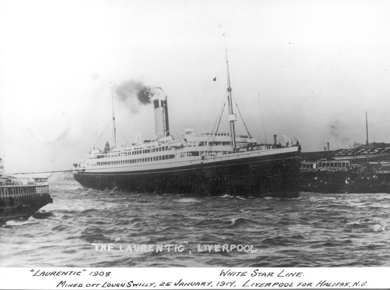Photograph of Laurentic, White Star Line card