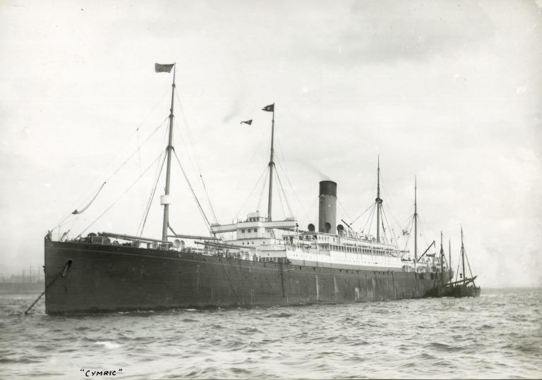 Photograph of Cymric, White Star Line card
