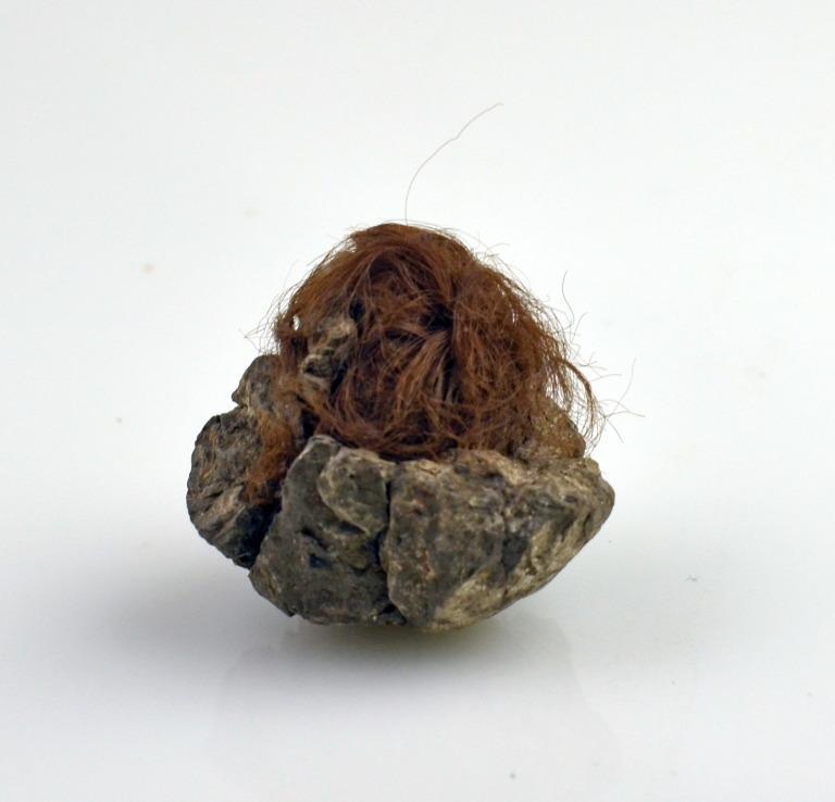 Clay Ball with Hair card
