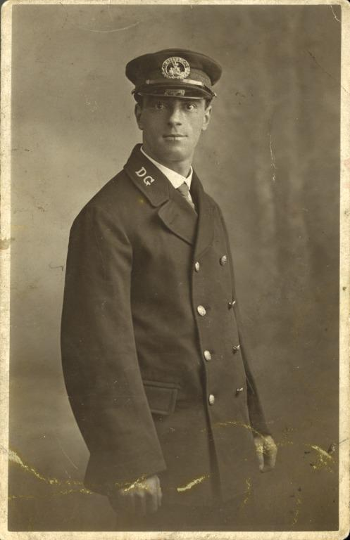 Joseph Parry, Able Seaman, items re sinking of Lusitania, 1915. card