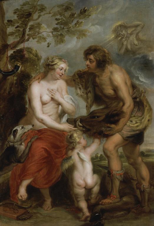 Meleager and Atalanta card