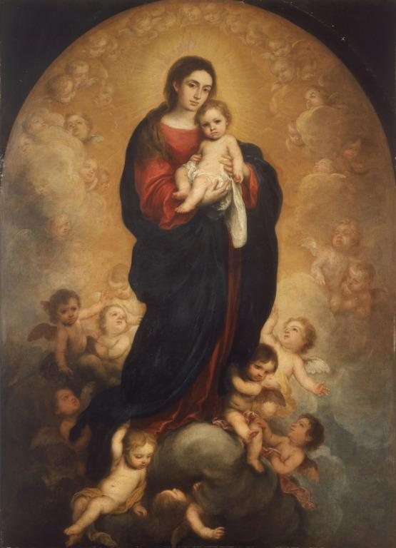 Virgin and Child in Glory card