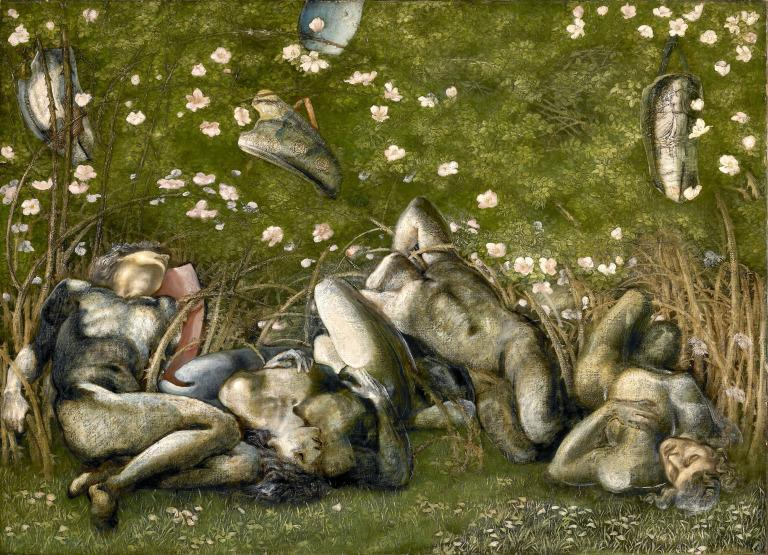 Study for the Sleeping Knights in 'The Briar Rose' card