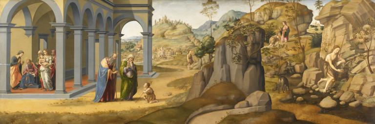 Scenes from the Life of St John the Baptist card